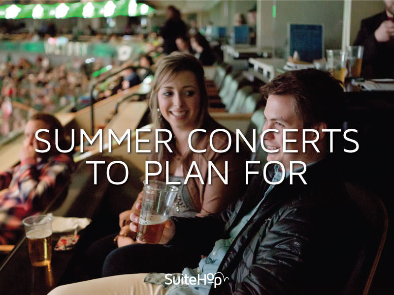 SuiteHop helps you plan for an awesome summer with summer concerts!