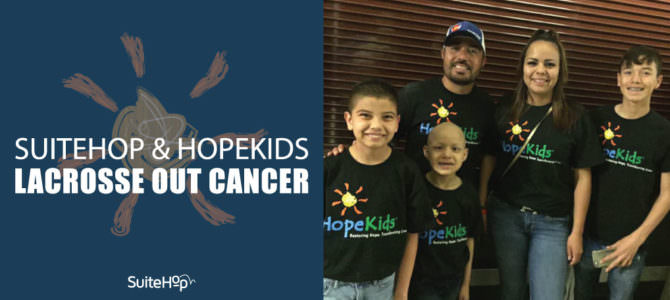 SuiteHop and HopeKids Lacrosse Out Cancer