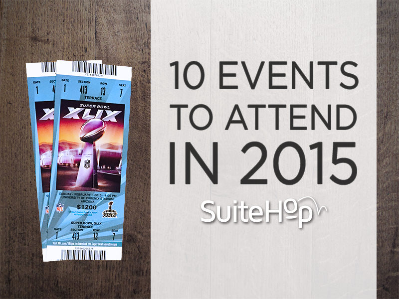Top events to see in 2015