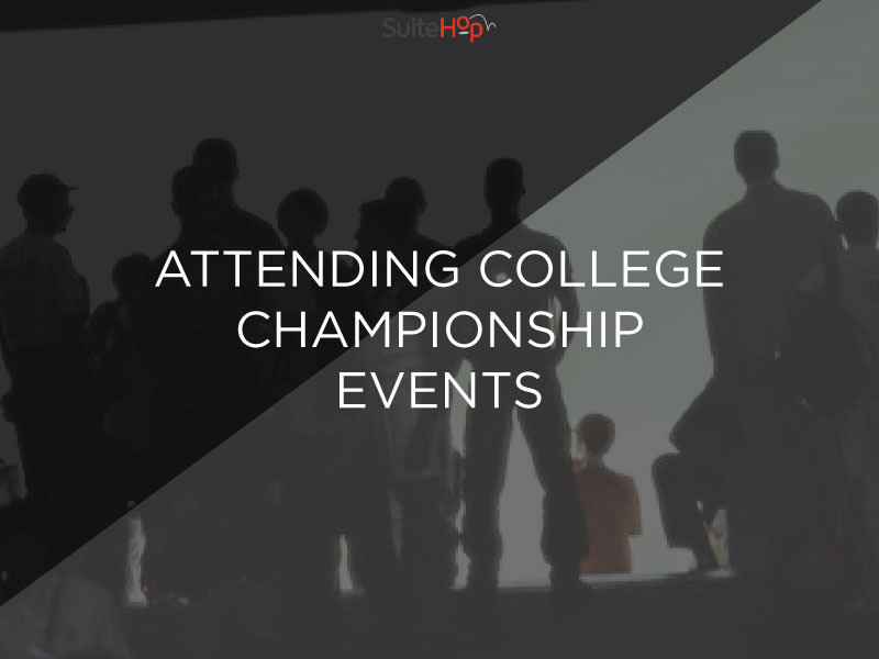Attending college championship events