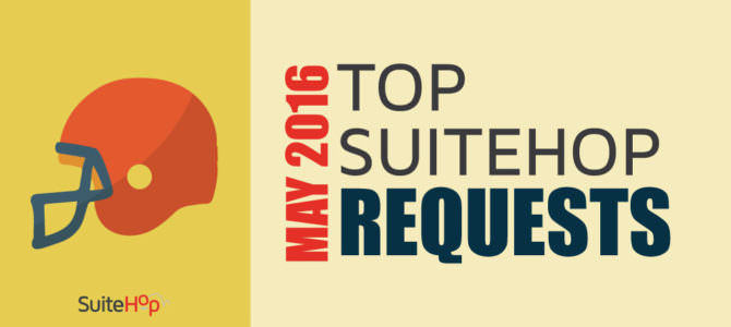 Top Suite Event Requests – May 2016