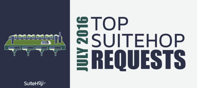 July 2016- Top Suite Event Requests