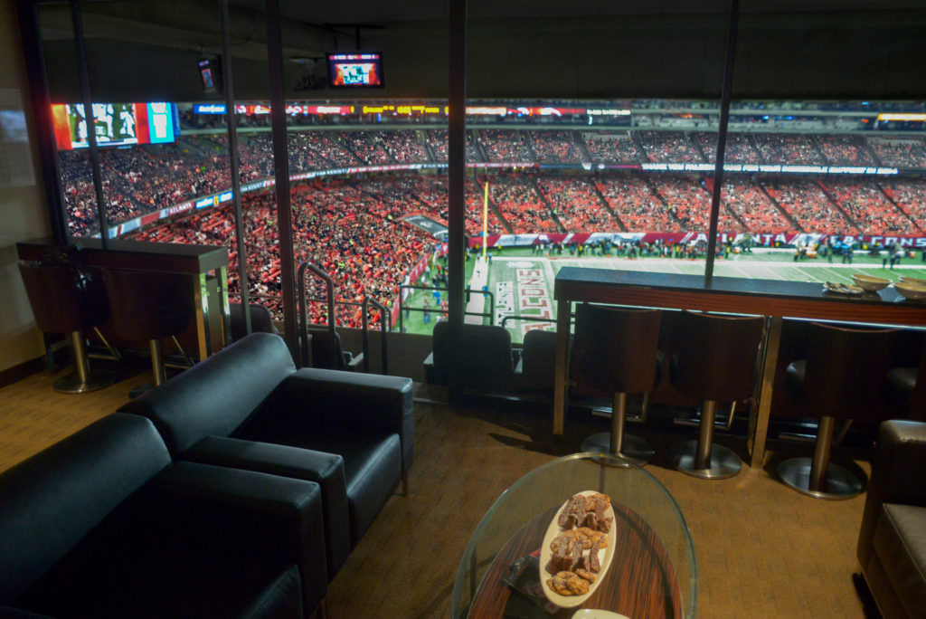 Information of NFL suite pricing.