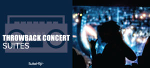 Throwback concert suites for epic entertainment.